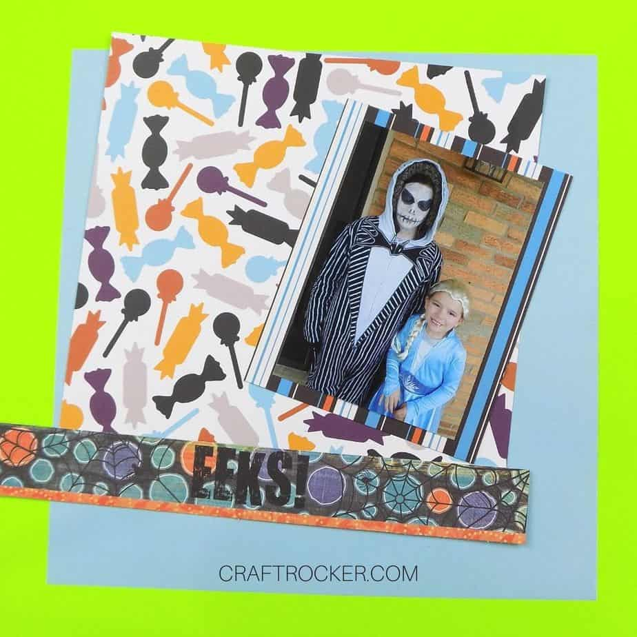 Matted Picture of Kids in Costumes on Top of Cut Papers - Craft Rocker