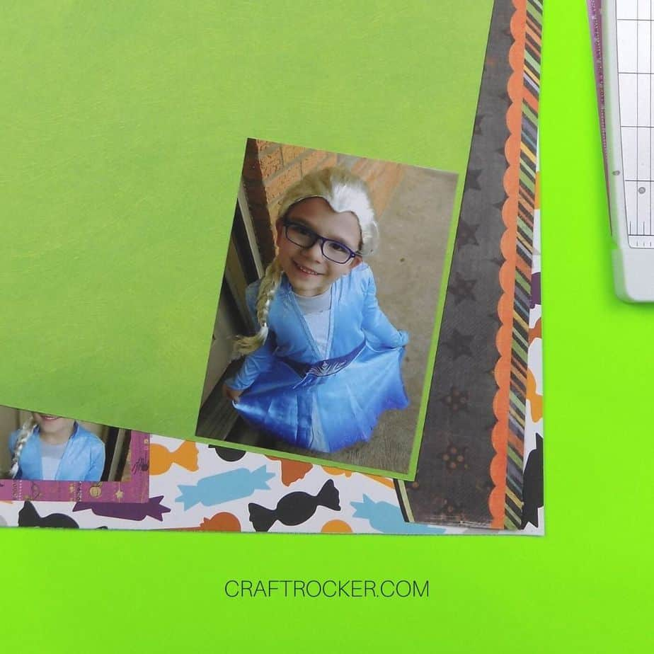 Photo of Girl in Elsa Costume on Green Paper - Craft Rocker
