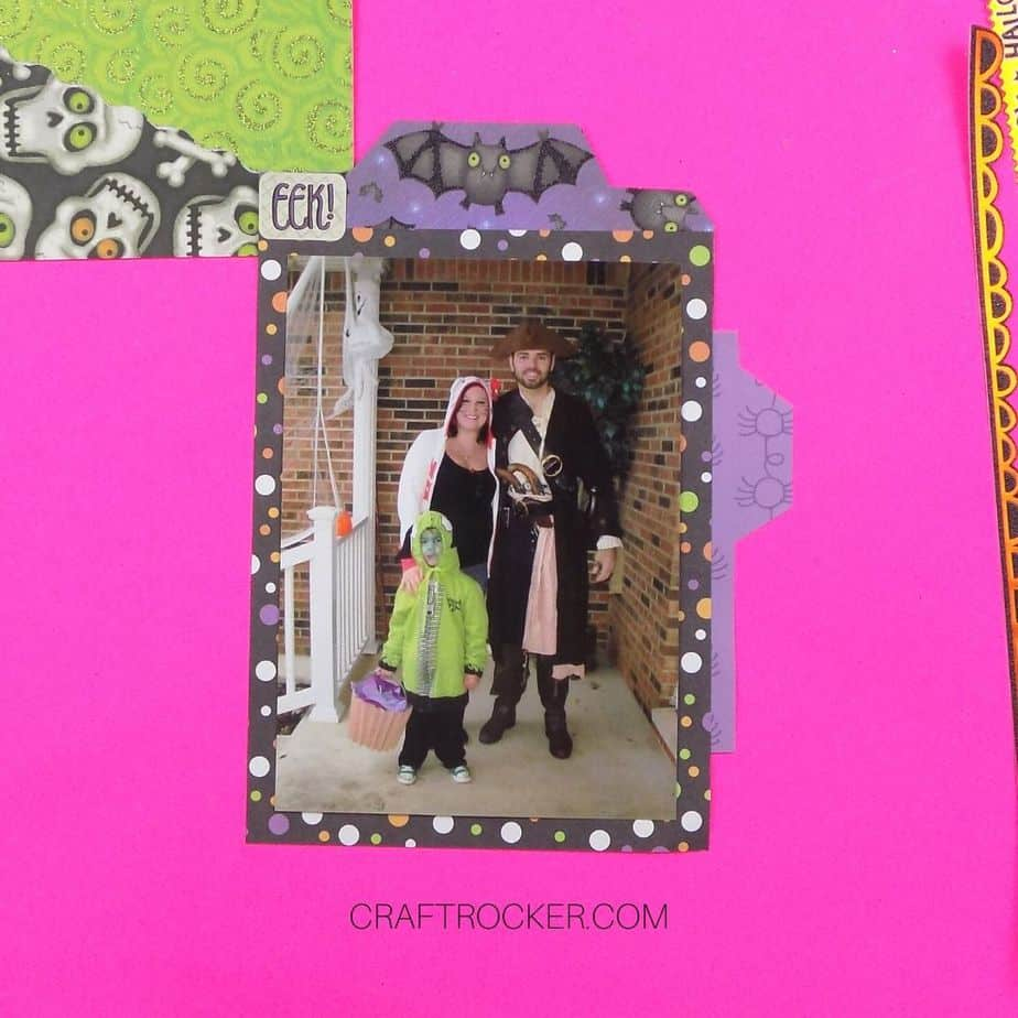 Purple Spider Paper Tab Glued to Picture - Craft Rocker