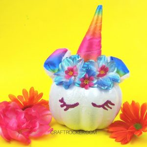 Rainbow Mini Unicorn Pumpkin - Craft Rocker