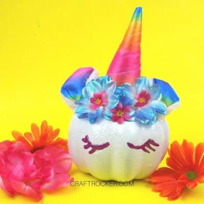 Mini Unicorn Pumpkin DIY – No Carve Idea