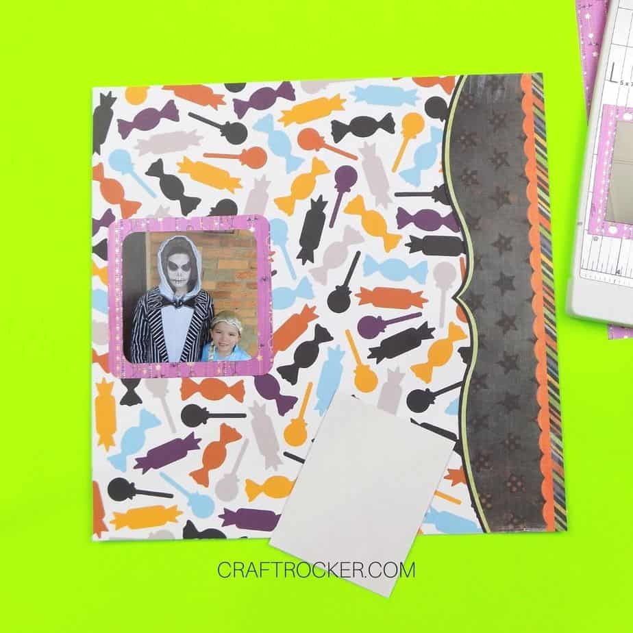 Square Photo Attached to Left Center of Scrapbook Page - Craft Rocker