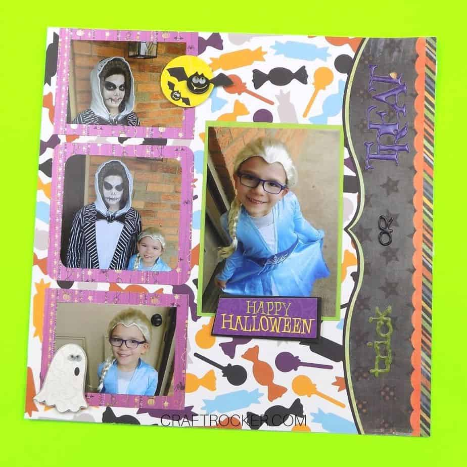 Trick or Treat Scrapbook Page - Craft Rocker