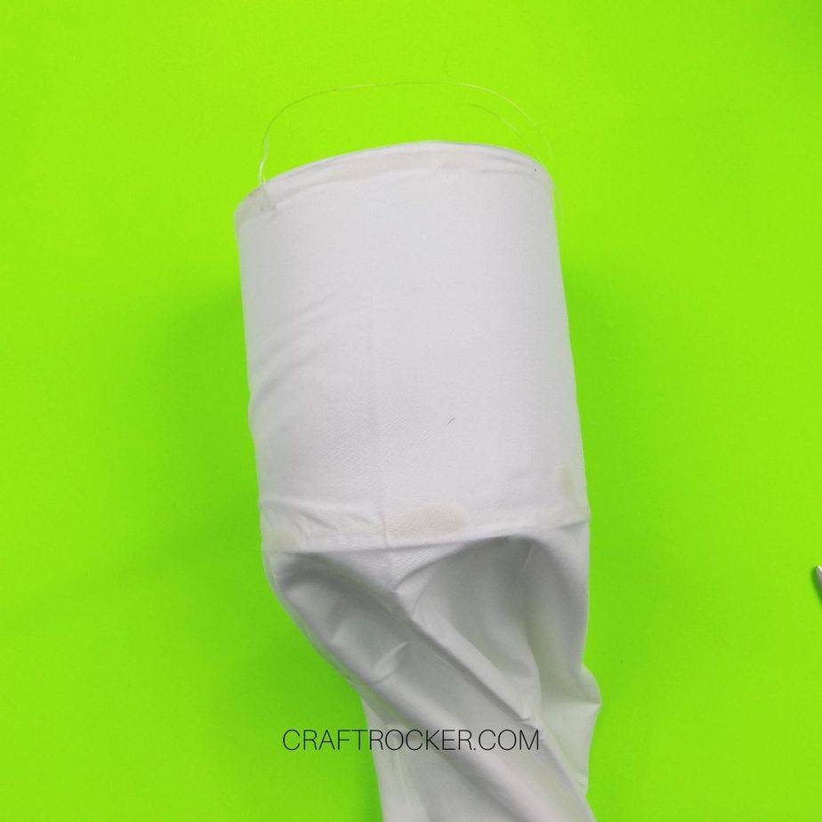 White Pillow Case Glued to Coffee Can - Craft Rocker