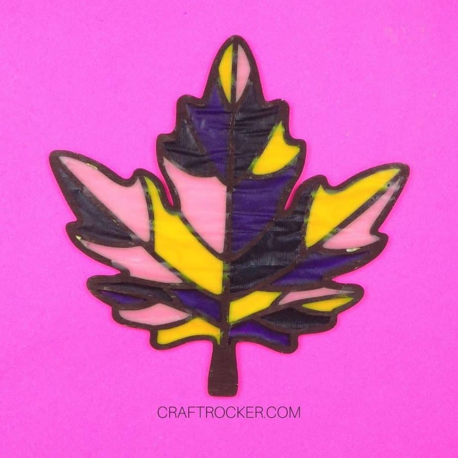 Back Side Dry Gallery Glass Paint Inside Wood Leaf - Craft Rocker
