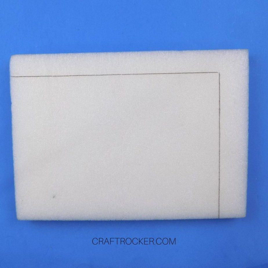 Black Lines on Piece of White Foam - Craft Rocker