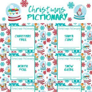 Close Up of Christmas Pictionary Printable - Craft Rocker