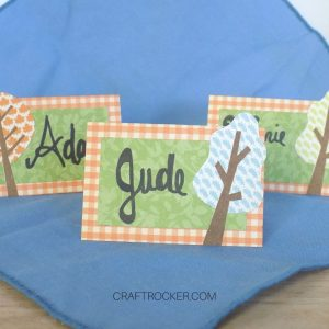 Close Up of Thanksgiving Place Cards - Craft Rocker