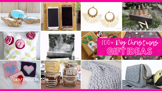 Collage of Handmade Christmas Gifts with text overlay - 100+ DIY Christmas Gift Ideas - Craft Rocker