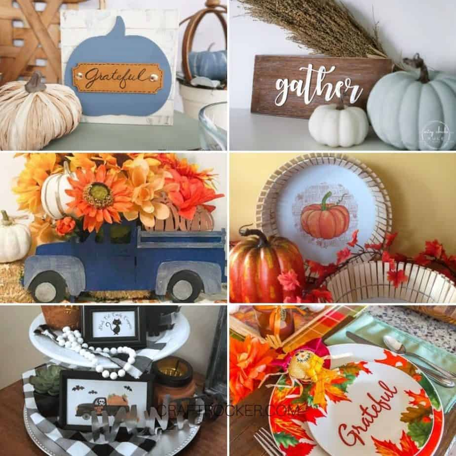 Collage of Photos of Fall and Table Decor - Craft Rocker