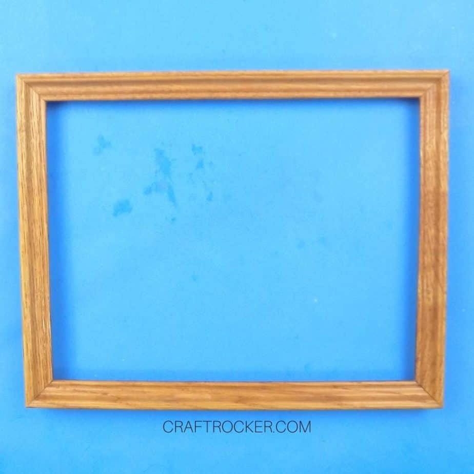Empty Wooden Thrift Store Frame - Craft Rocker