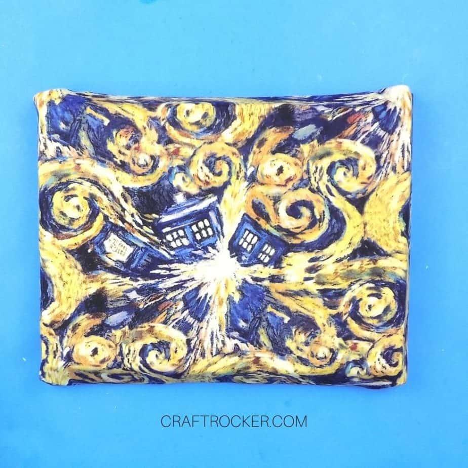 Exploding TARDIS Fabric Wrapped Around Foam - Craft Rocker