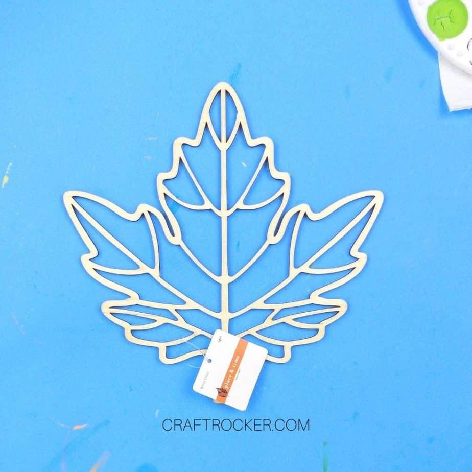 Laser Cut Wood Leaf with Tags - Craft Rocker