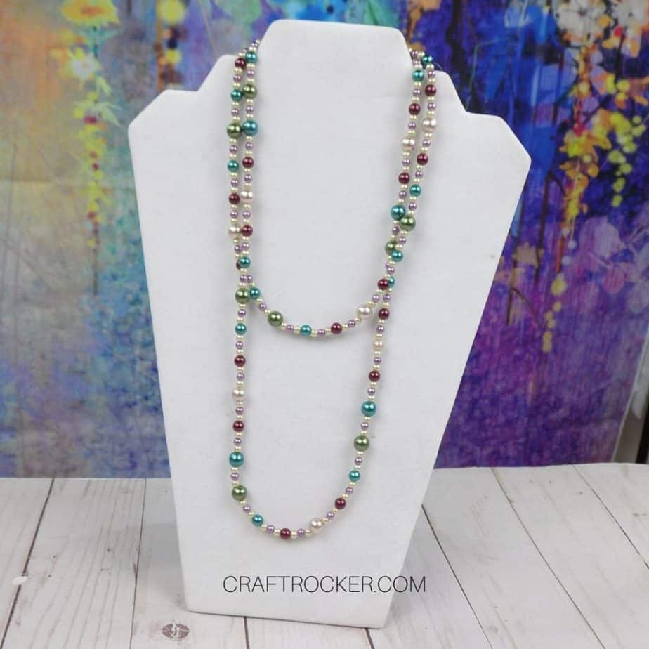 Long Beaded Necklace on Stand - Craft Rocker