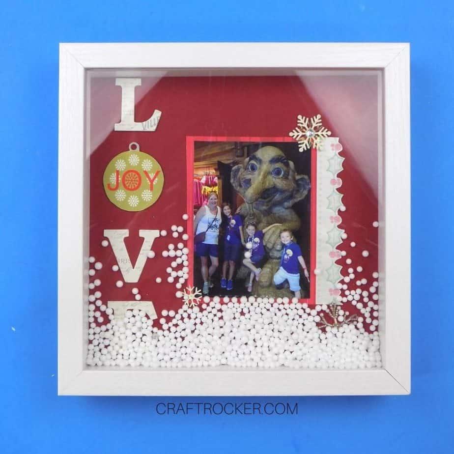 Love Shadow Box Snow Globe on Blue Background - Craft Rocker