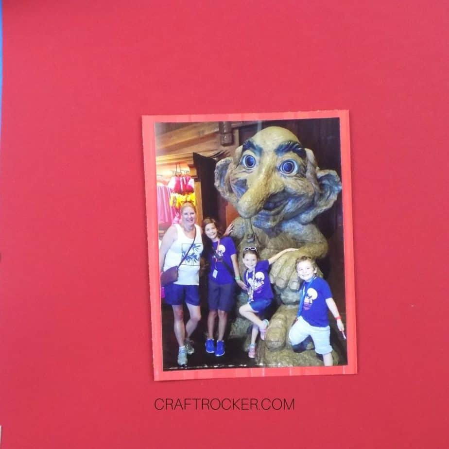 Matted 4x6 Photo on Red Cardstock - Craft Rocker