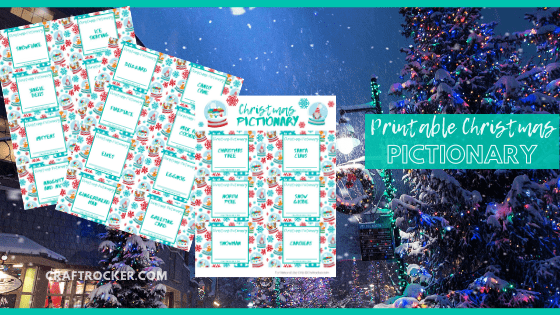 Pictionary Sheets with text overlay - Printable Christmas Pictionary - Craft Rocker
