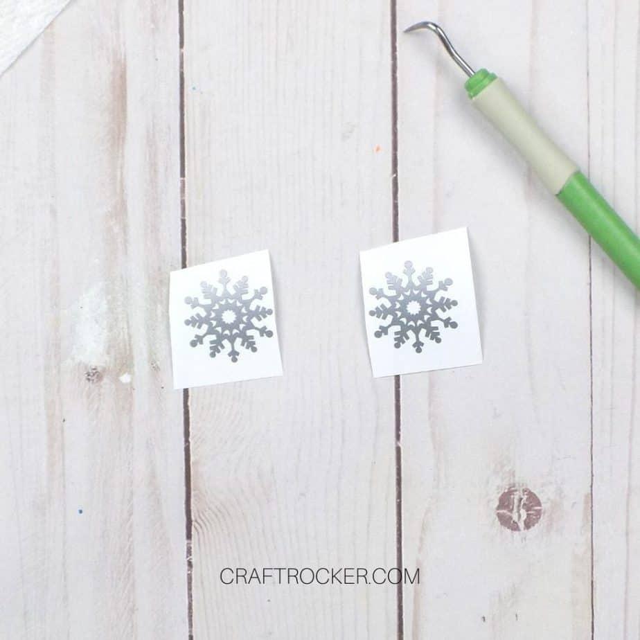 Silver Snowflakes on Backing Cut Apart - Craft Rocker