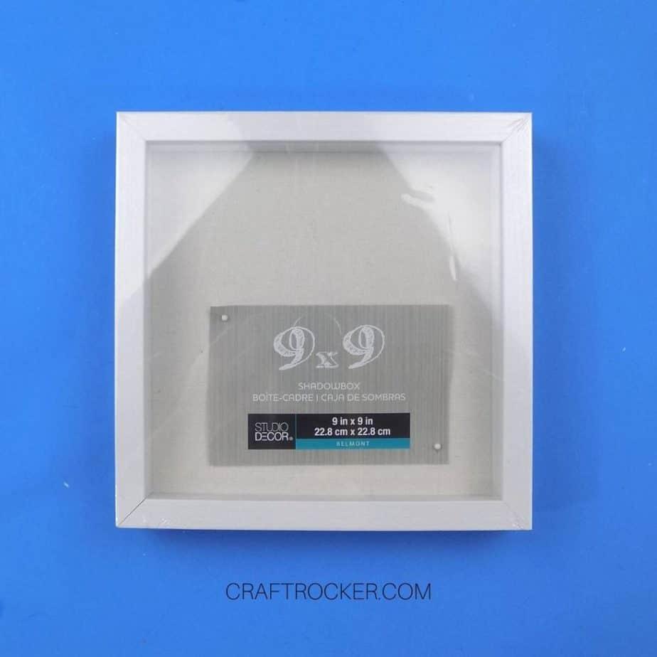 White 9x9 Shadow Box on Blue Background - Craft Rocker