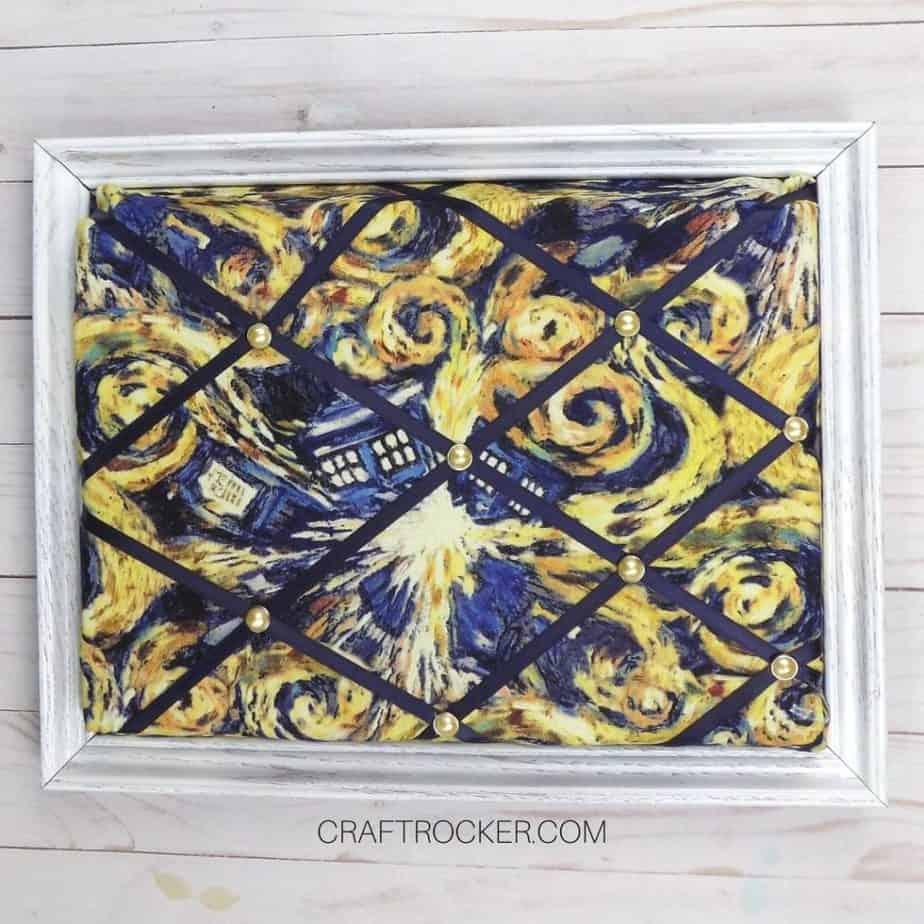 White Framed French Memo Board on Wood Background - Craft Rocker