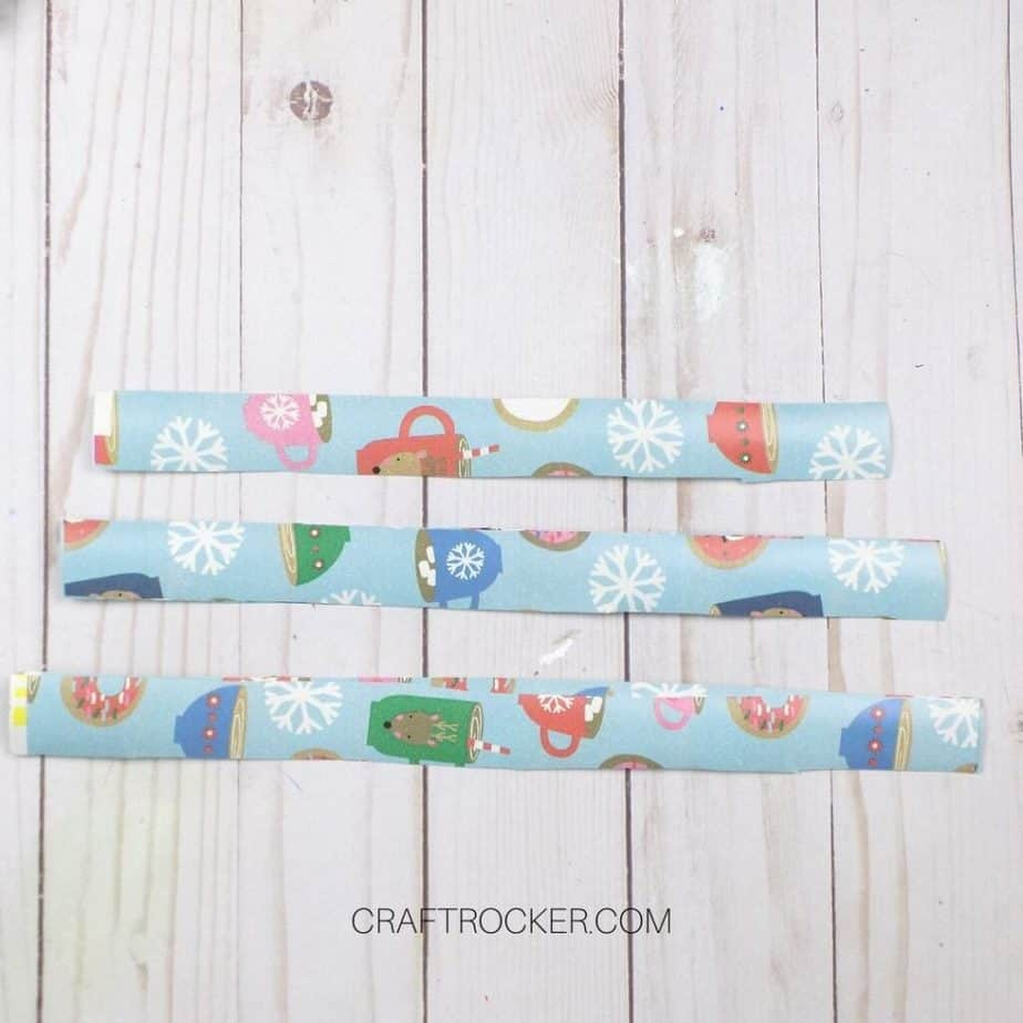 3 Sizes of Strips of Wrapping Paper - Craft Rocker