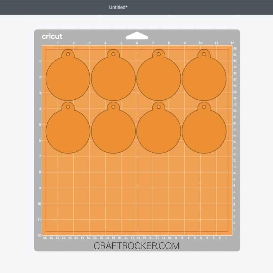 8 Orange Ornaments on Cutting Mat Mockup - Craft Rocker