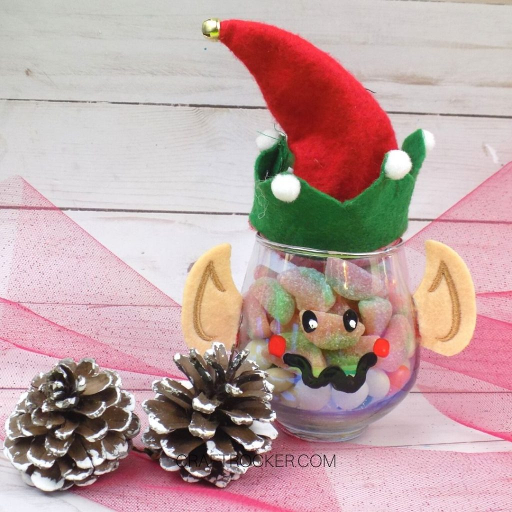 Adorable Elf Treat Jar on Wood Background - Craft Rocker