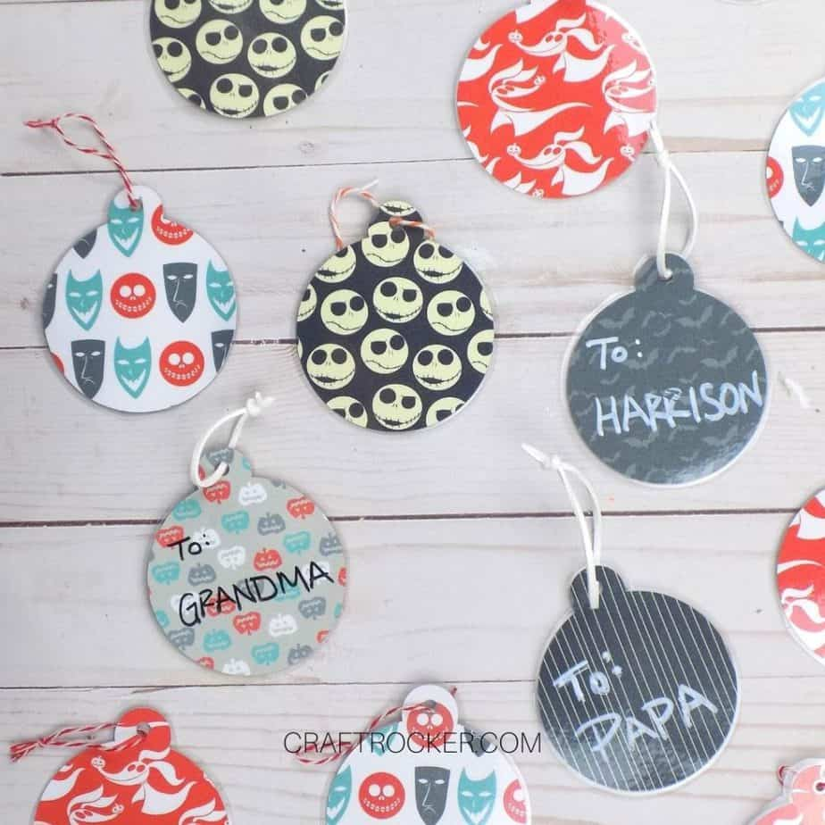 Assorted Nightmare Before Christmas Gift Tags - Craft Rocker