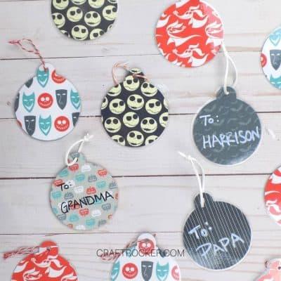 Reusable Nightmare Before Christmas Gift Tags