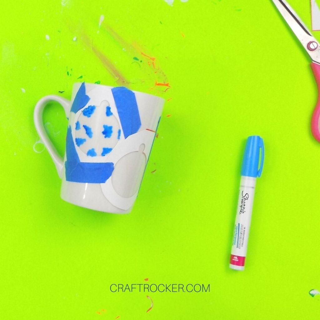 Blue Paint in Ornament Outline - Craft Rocker