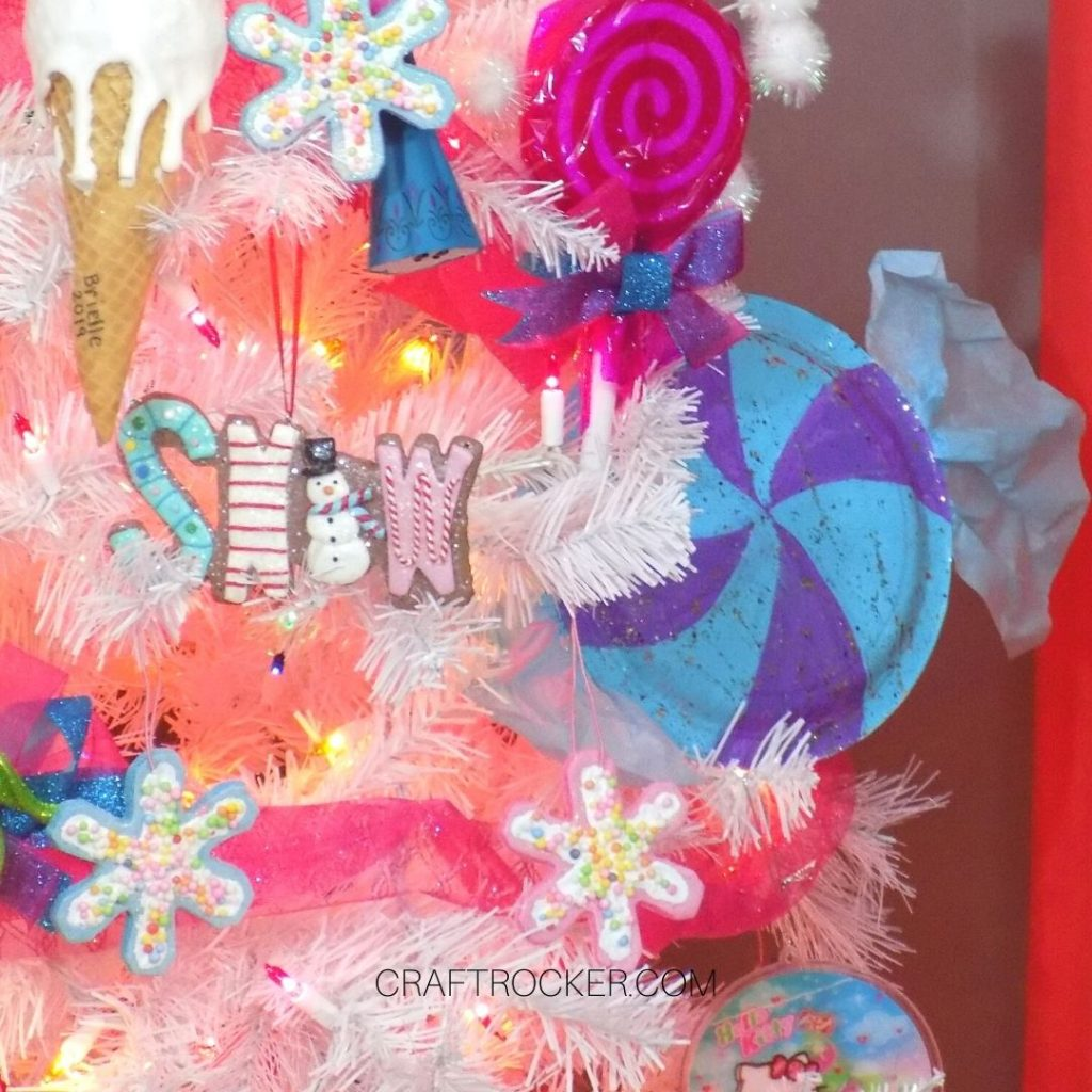 Candy Ornaments on Candy Christmas Tree - Craft Rocker