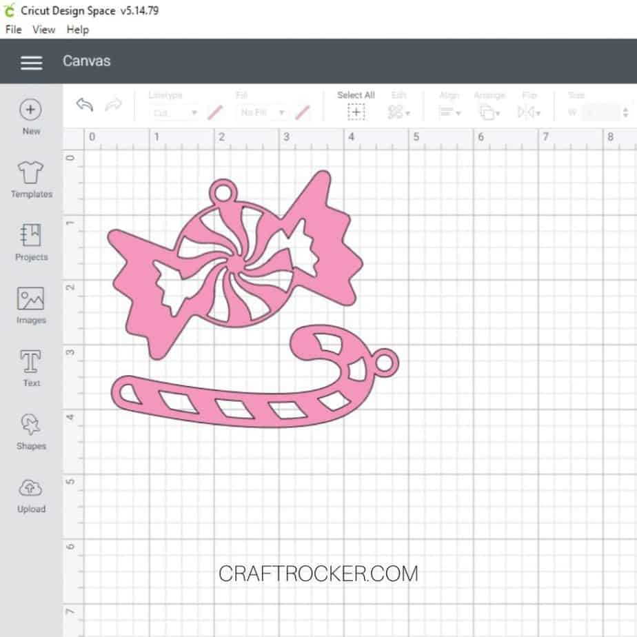 Candy and Candy Cane Overlay Cut Files on Canvas - Craft Rocker