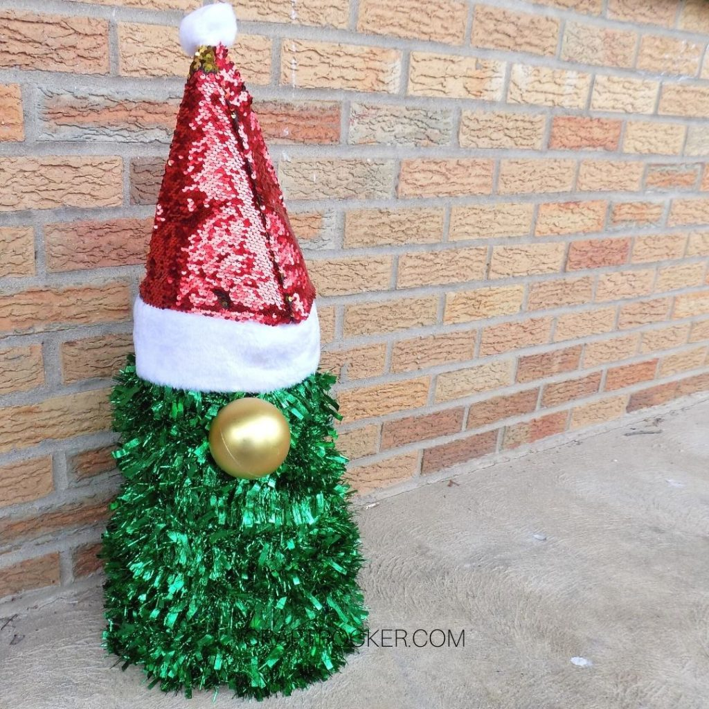 Christmas Gnome on Porch - Craft Rocker