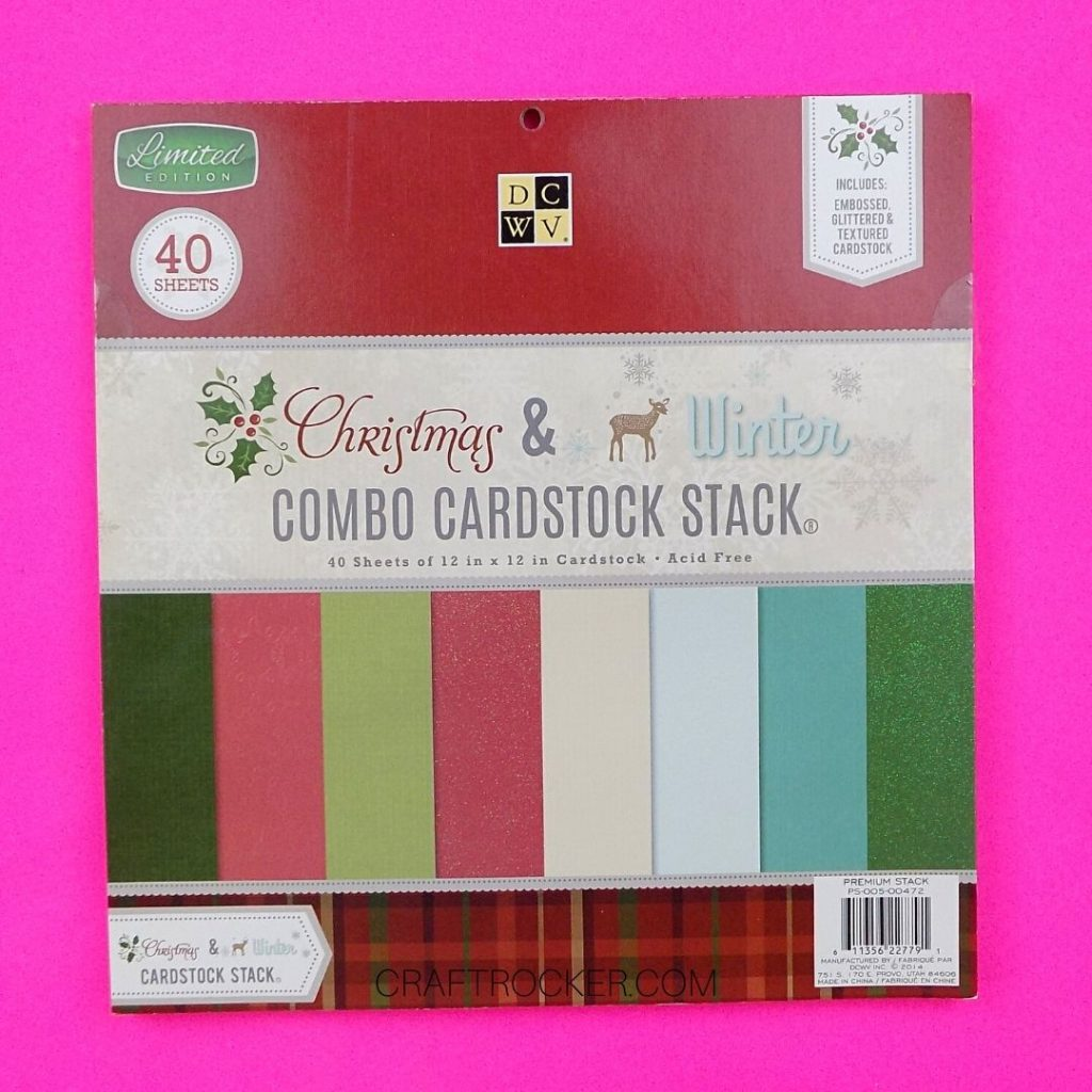 Christmas and Winter Cardstock Paper Pad - Craft Rocker