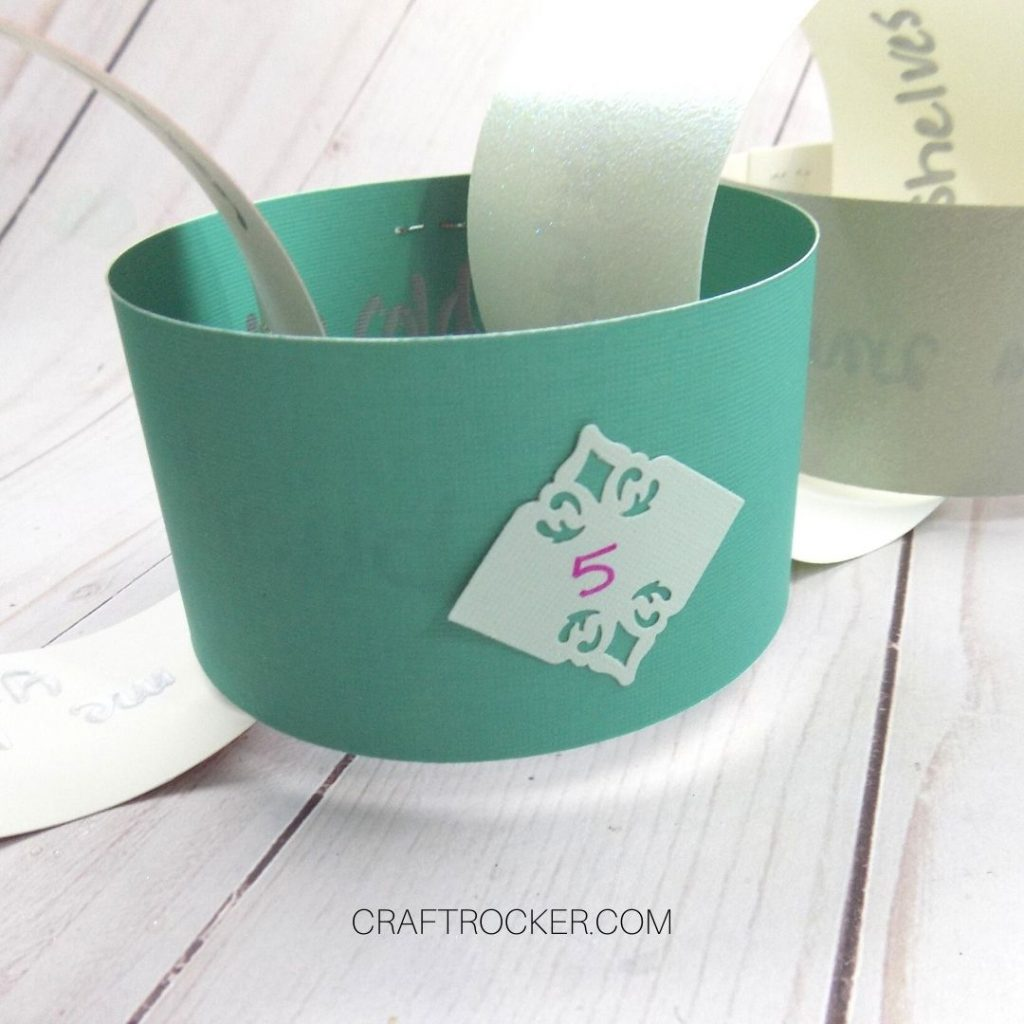 Close Up of Paper Chain Link with the Number 5 on It - Craft Rocker