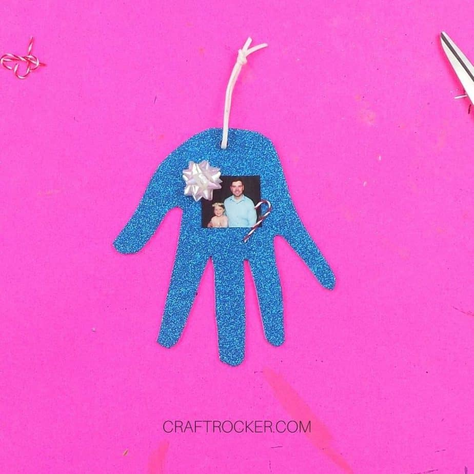 Decorated Glitter Foam Handprint - Craft Rocker