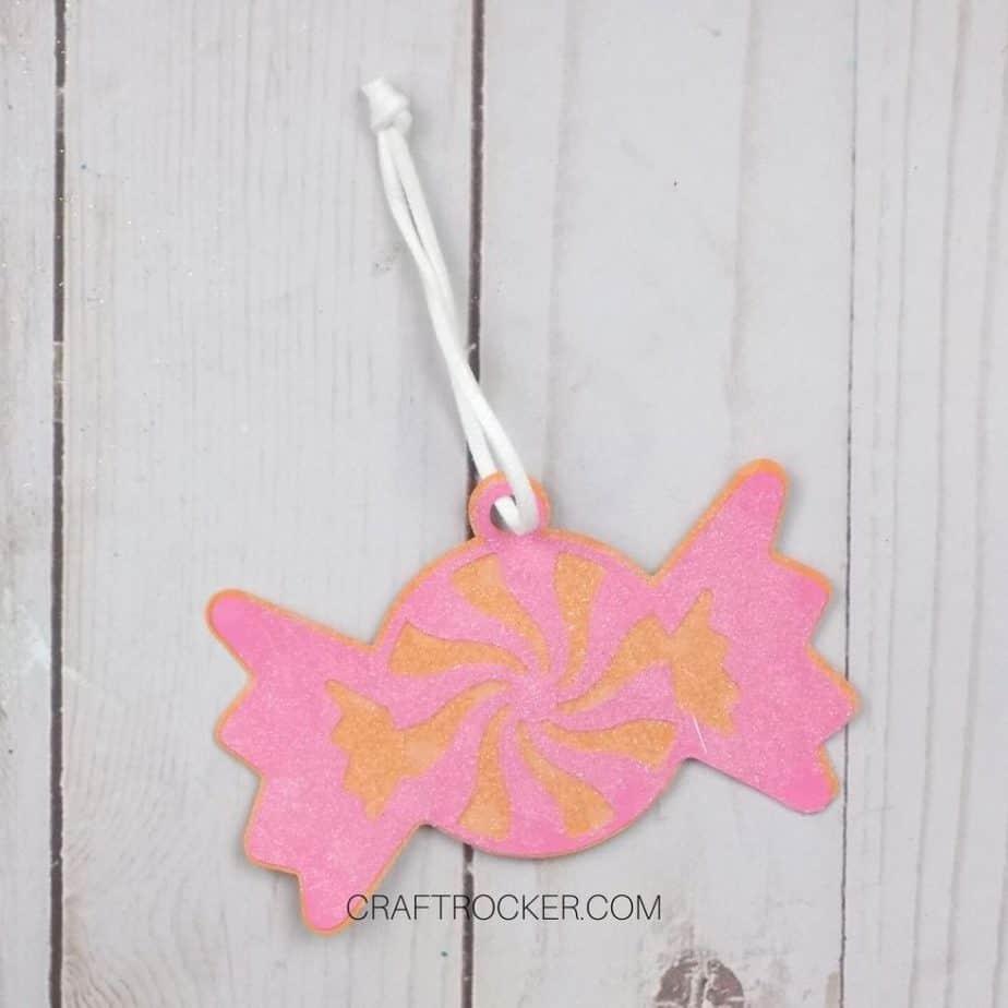 Glitter Paper Candy Ornament - Craft Rocker