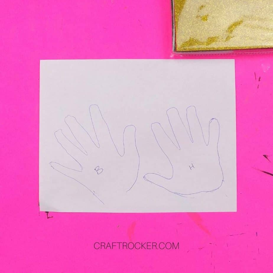 Handprints Traced on Piece of White Paper - Craft Rocker