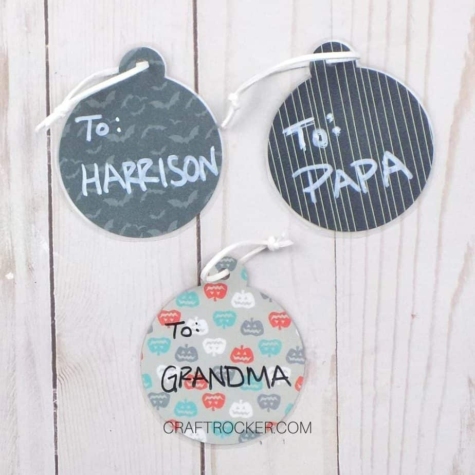 Names on Nightmare Before Christmas Gift Tags - Craft Rocker