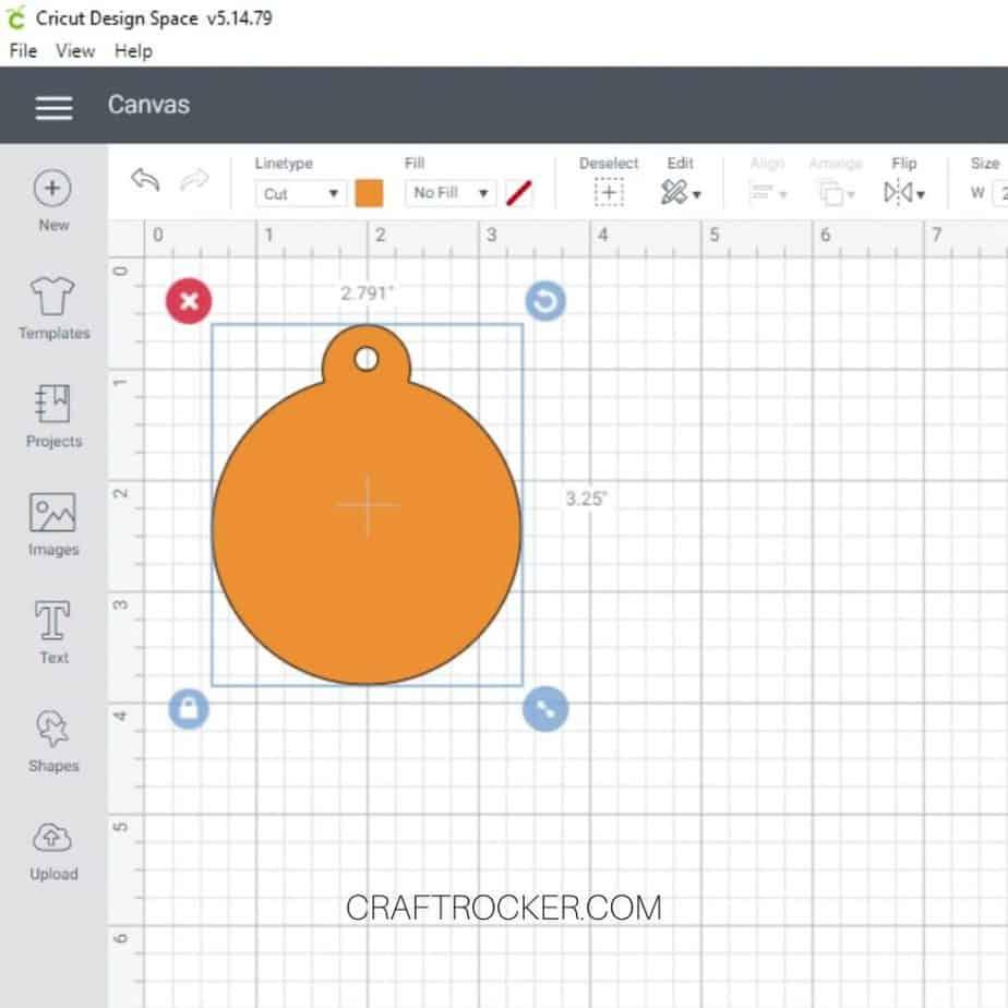 Orange Ornament File on Design Space Canvas - Craft Rocker