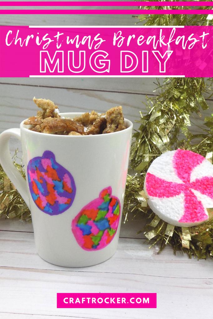 Ornament Sharpie Mug with text overlay - Christmas Breakfast Mug DIY - Craft Rocker