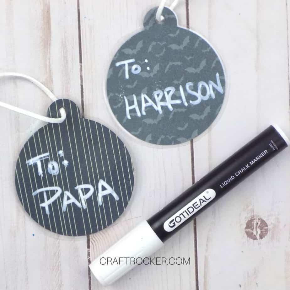 Ornament Tags next to Chalk Marker - Craft Rocker