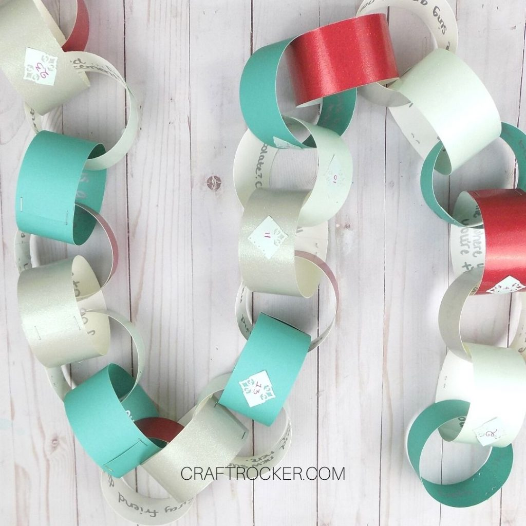 Paper Chain Advent on Wood Background - Craft Rocker