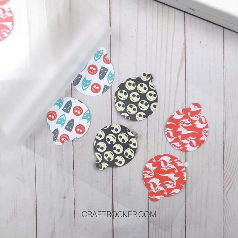 Paper Ornaments Lined Up on Laminate Sheet - Craft Rocker