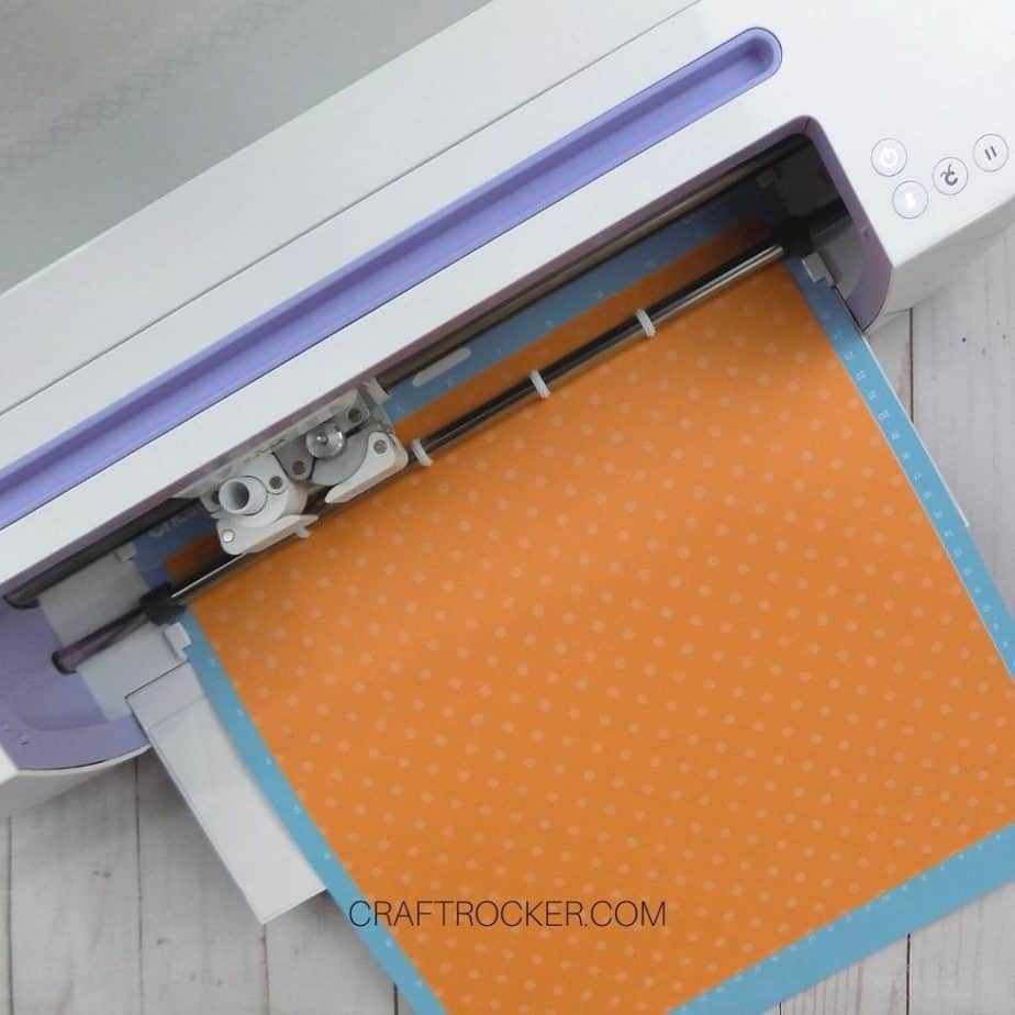 Paper and Mat Loaded into Cricut - Craft Rocker