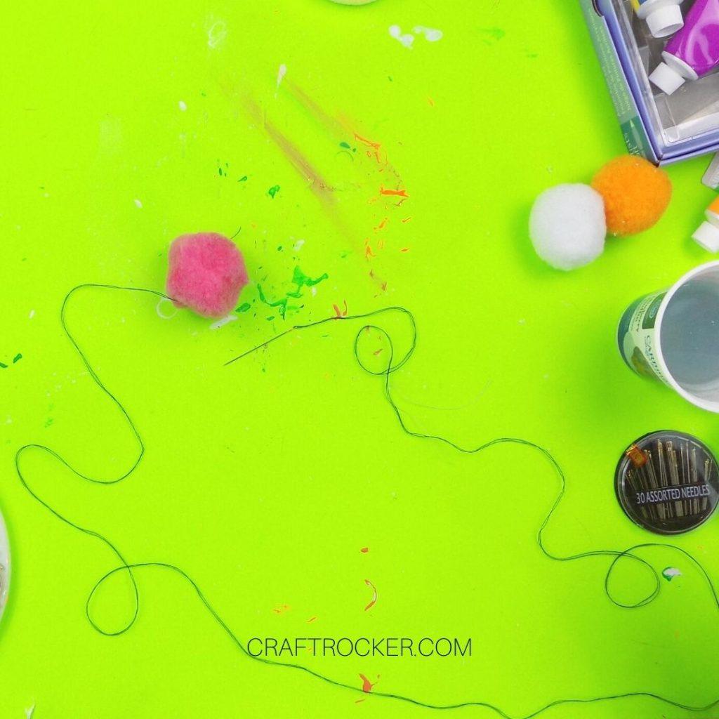 Pink Pompom on Thread - Craft Rocker