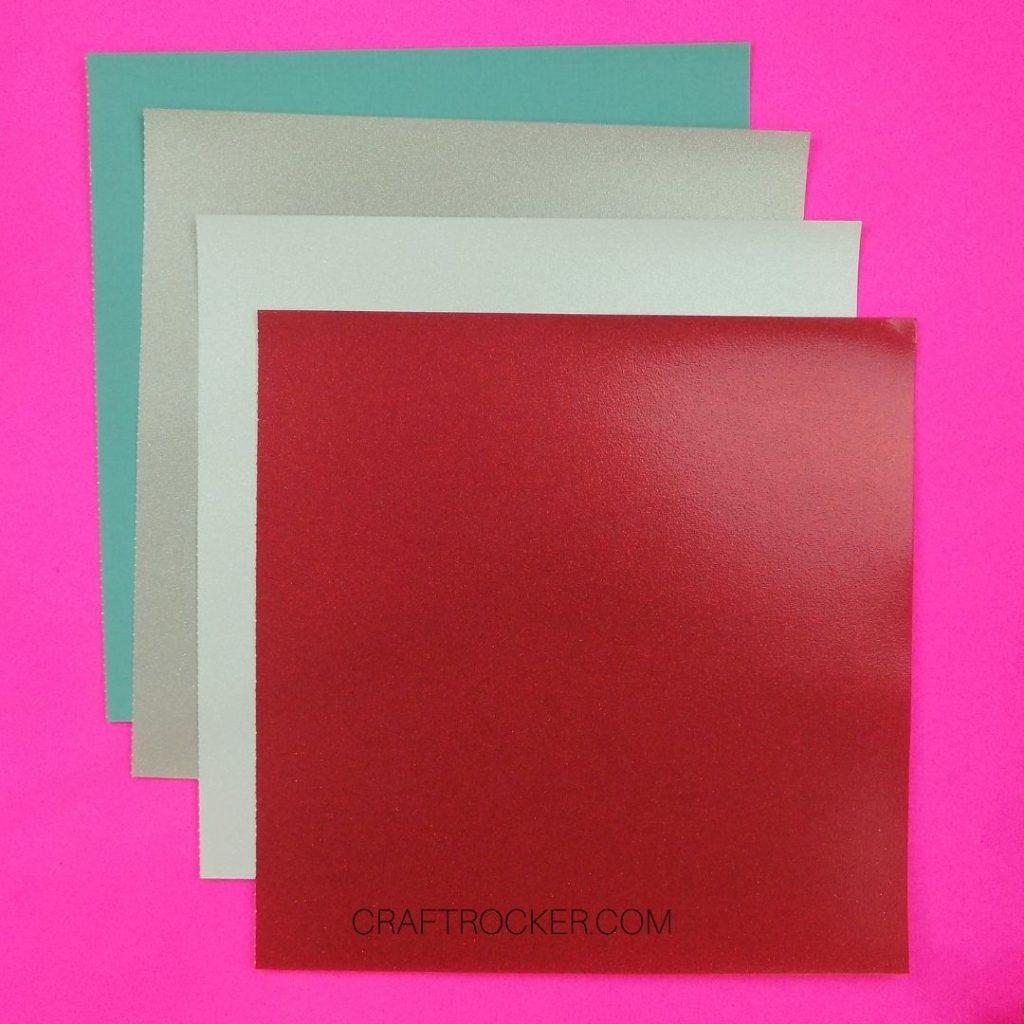 Sheets of Cardstock on Pink Background - Craft Rocker