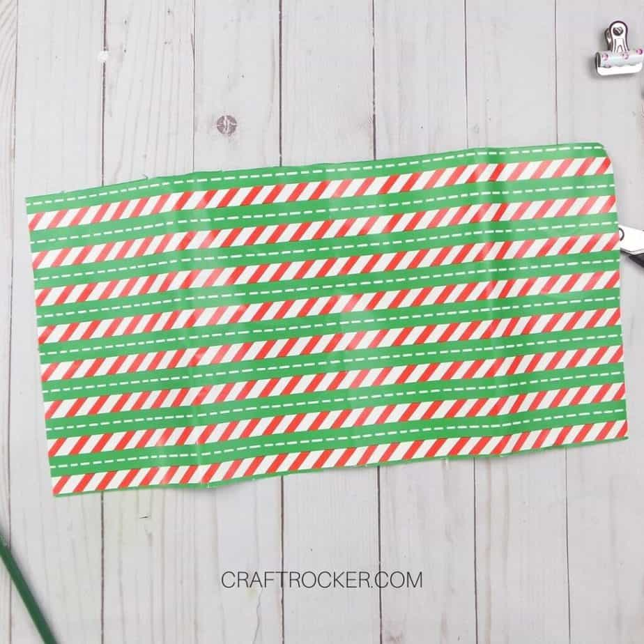 Striped Piece of Wrapping Paper - Craft Rocker