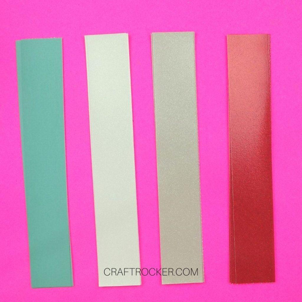 Strips of 4 Colors of Cardstock - Craft Rocker