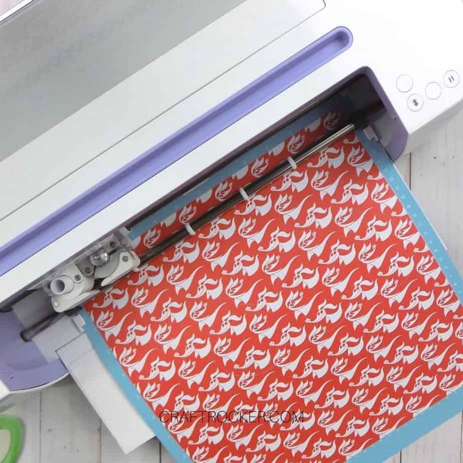 Zero Patterned Paper Loaded into Cricut - Craft Rocker